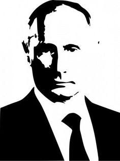 Vladimir Putin Die-Cut Decal Car Window Wall Bumper Phone Laptop