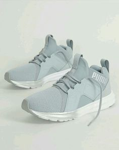 newest 6d30e 68191 Puma Enzo Metallic Shoe - Women s Shoes in Quarry Puma Silver