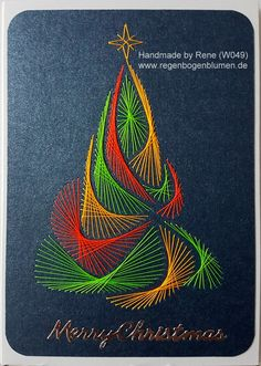 Fadengrafik - Greeting Cards - Set with the illustrated thread graphic motif worked . - Fadengrafik – Greeting Cards – Set with the illustrated thread graphic motif worked with Ultra - String Art Diy, String Crafts, Diy Christmas Cards, Christmas Art, Christmas Patterns, Holiday Cards, Christmas Sewing, Xmas Cards, Holiday Gifts