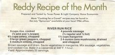 Reddy Recipe that came with the old TP (Texas Power & Light) utility bill. I vaguely recall them.