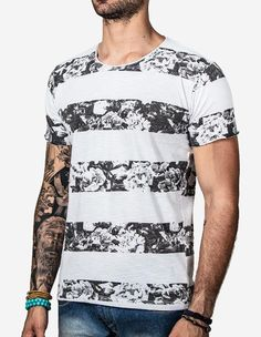 T-SHIRT LISTRA FLORAL - Hermoso Compadre