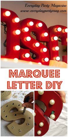 DIY Marquee Letters as seen in Everyday Party Magazine Spring 2014