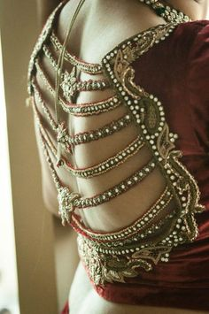 saree / lehenga blouse back details