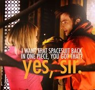 """""""I want that spacesuit back in one piece, you got that?"""" #DoctorWho"""