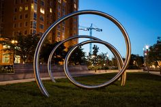 Interesting sculpture at Canal Park in the Capitol Riverfront of Washington DC | We love having such great green space just steps from our front door!