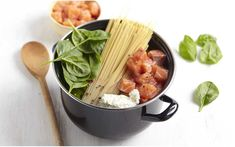 Recette One pot pasta saumon et pousse d'épinard