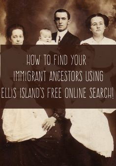 How to Find Your Ancestors Who Passed Through Ellis Island. You can easily use the free Ellis Island online search to find out more about your immigrant ancestors who came through there. Free Genealogy Sites, Genealogy Forms, Genealogy Research, Family Genealogy, Genealogy Humor, Ancestry Free, Free Genealogy Records, Genealogy Chart, Family Tree Research