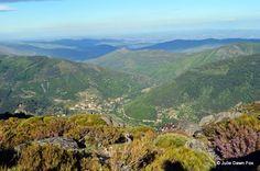 Serra da Estrela in central Portugal with a view over Manteigas