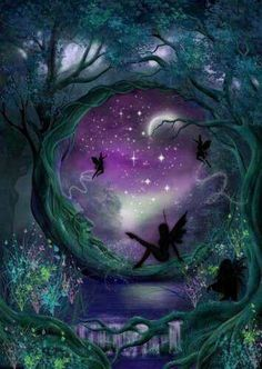 In the mystical world of faeries, the night fairy needs nothing but the light of the moon Fairy Dust, Fairy Land, Fairy Tales, Magical Creatures, Fantasy Creatures, Elfen Fantasy, Fairy Pictures, Love Fairy, Beautiful Fairies