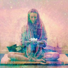 Meditation is the Art of listening to God. Acupuncture For Anxiety, Art Magique, Spiritual Gangster, Divine Feminine, Yoga Meditation, Kundalini Yoga, Photo Illustration, Oeuvre D'art, Les Oeuvres