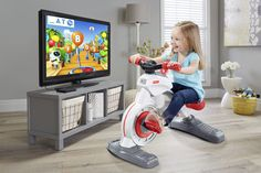 Even toddlers need high-tech exercise bikes these days. Toy maker Fisher-Price is making just such a contraption, which works directly with gaming apps on little kids' tablets, the company announce…