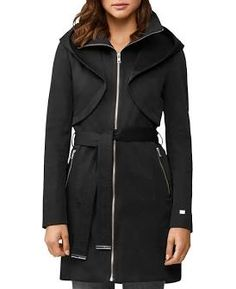 Work Wardrobe, Capsule Wardrobe, Soia And Kyo, Wool Trench Coat, Hooded Raincoat, Winter Wear, Black Wool, Coats For Women, Zip Ups