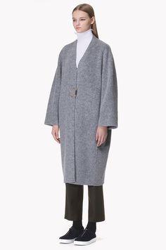 [SYSTEM0] Llama wool blend oversized coat