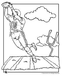 Football coloring pages Theme Activities Pinterest Stenciling