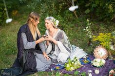 Elven wedding costumes by DressArtMystery