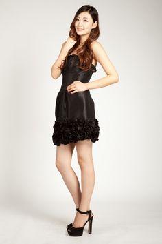 Custom Made Sexy Black Rose Hem Mini Skirt Gown Formal Bridesmaid Prom Evening Short Skirts, Mini Skirts, Dress Shapes, Womens High Heels, Skirt Fashion, Looks Great, Classy, Bridesmaid, Gowns