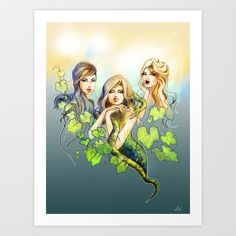 Garden of Eden Art Print by Agnieszka Antosiewicz - $18.00