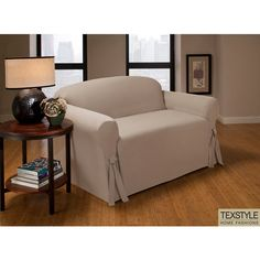 Modern Sectional Sofas Walmart TexStyle Peach Skin Slipcover for Sofas