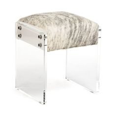 Shop Zentique  ZF007 Vinyl and Cowhide Vanity Stool at The Mine. Browse our accent chairs, all with free shipping and best price guaranteed.