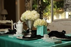 breakfast at tiffanys centerpiece