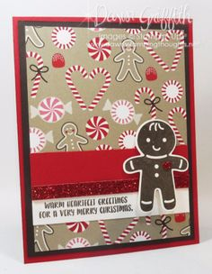 Cookie Cutter Christmas card front Dawn Griffith Stampin Up Holiday 2016