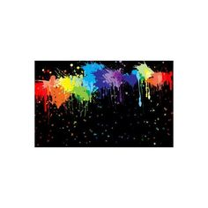 Rainbow Paint Splatters ❤ liked on Polyvore featuring backgrounds and rainbow