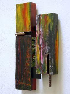 """Spoils"" -david landry 18""x9""x2"" -acrylic, foam, wood, mirror, and steel.  http://artalog.tumblr.com/"