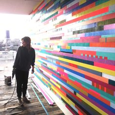 Leah at work on a recent project in Hamburg, Germany.