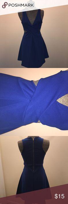 Royal Blue Guess dress never worn , very cute. Guess Dresses Midi