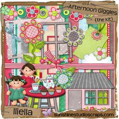 """Photo from album """"Afternoon Giggles"""" on Yandex. Kit Scrapbook, Printable Scrapbook Paper, Scrapbook Designs, Printable Paper, Scrapbook Pages, Free Printable, Digital Project Life, 1st Birthday Pictures, Diy And Crafts"""