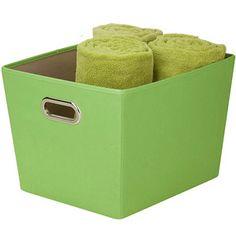 Honey-Can-Do Medium Decorative Storage Bin with Handles:  Walmart