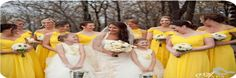 .yellow bridal party