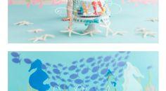 Starfish on the ground, all light blue floor and back Beach Cake Smash, Beach Cakes, Blue Floor, Starfish, Light Blue, Flooring, Wood Flooring, Pastel Blue, Light Blue Color
