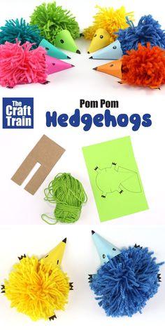 pom pom hedgehog craft   The Craft Train