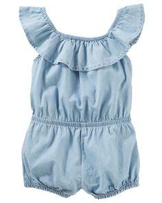 41661ff1881 Baby Girl Off Shoulder Ruffle Romper