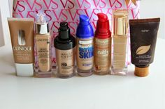 My Oily to Combination Skin Foundation Hit List