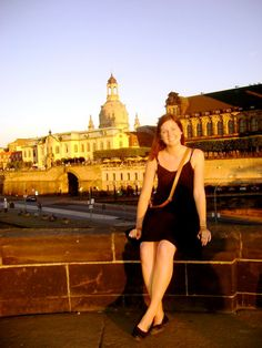 Brooke is an aficionado of German language, history and culture. She participated in an exchange program in high school and studied abroad in college, both in towns near Frankfurt. Pictured is Brooke enjoying the culture and architecture in Dresden, with the historic Frauenkirche in the background.