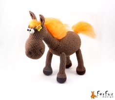 Hey, I found this really awesome Etsy listing at https://www.etsy.com/listing/185943814/crochet-horse-stuffed-horse-crochet