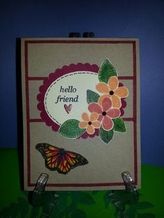 GKD  Fabulous Frame  Hello with Flowers