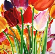 Sarah Bent | WATERCOLOR | Tulip  Explosion