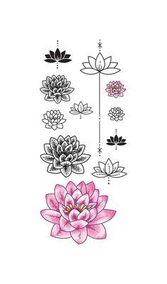 tatuagem temporária Flor de Lótus