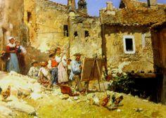 El pintor, Mariano Barbasan, pintor  aragones 1870