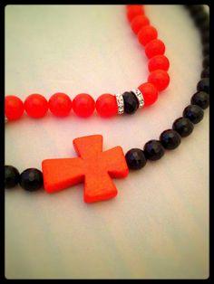 Orange Cross by MauraBradyDesigns on Etsy