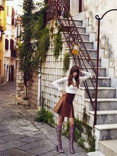 "Eugenia Volodina in ""French Twist"" by Xavi Gordo for ELE Spain ,  August 2014"