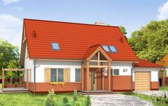 Projekt Leśny Zakątek to parterowy dom z poddaszem użytkowym i garażem przeznaczony dla 4-6 osobowej rodziny. Budynek można posadowić na działce z niekorzystnym nasłonecznieniem. Architektura projektu nawiązuje do prostych, tradycyjnych form i detali, w nowoczesnym ujęciu. Dzięki użyciu naturalnych materiałów: cegły, drewna, dachówki ceramicznej - dom doskonale komponuje się z otoczeniem.