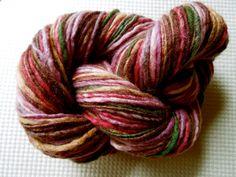 Lilacs Handspun Yarn. via Etsy.