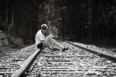 Sharp, gorgeous light coming from down the track. #stilettos #railroad #traintracks #legs #backlit #rimlight