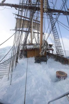 "Tall Ship ""Europa"" in bad weather! Bateau Pirate, Old Sailing Ships, Boat Art, Wooden Ship, Out To Sea, Sail Away, Set Sail, Am Meer, Wooden Boats"