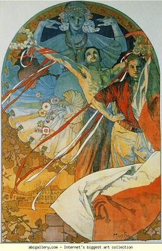 alphonse mucha gallery | Alphonse Mucha. 8th Sokol Festival. 1912. Color lithograph. 123 x 82.7 ...