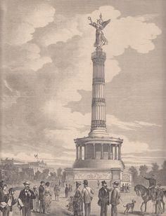 Berlin 1873 Die Siegessaeule (Koenigsplatz)